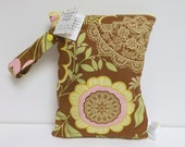 Diaper and Wipes Bag - Wet Bag - Take It On The Go Diaper And Wipes Bag - Lotus Lacework
