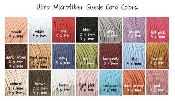 3 x 1mm Ultra Microfiber Faux Leather Suede Necklace Cord Assorted Colors 200 Feet YOU PICK