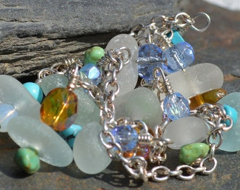 SUMMERTIME - Sea Glass ANKLET