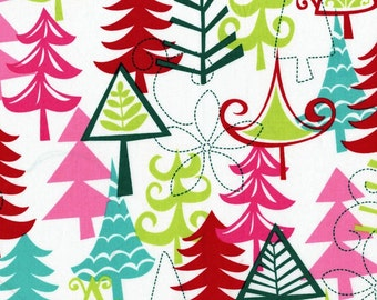 Michael Miller Yule Trees Multi Fabric, yard