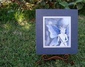 ORIGINAL Art Watercolor Painting Night Fairy Art Fantasy Art Portrait SALE