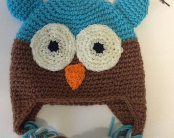 SALE Adorable Owl Hat for Toddler