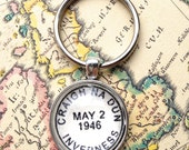 Outlander Keychain - Outlander Gift - Outlander Accessory - Craigh na Dun - Outlander Series Outlander Book - Claire Fraser - Scottish Gift