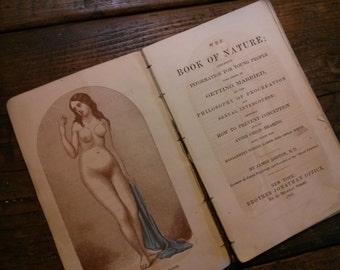 Book of Nature - Early Sex Education Book from 1800s SCARCE