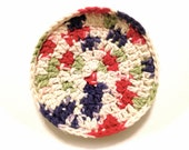 Field Of Dreams Crocheted Cotton And Nylon Netting Dish Scrubbie-Large