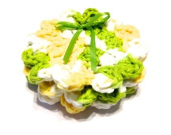 Green Dream Crocheted Face Scrubbies-Miniature Trio
