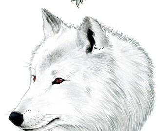 Ghost The Direwolf Limited Edition Art Print by Ryan Berkley