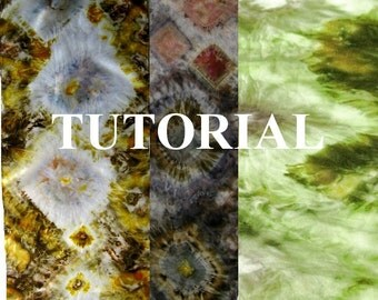 Tutorial Natural Dyeing Eco Printing Shibori Making Marks with Local Plants  Environmentally Friendly Dyeing Method