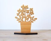 Black Friday, Cyber Monday, Sale, Small Wood Houseplant, Style A