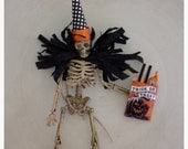 Halloween Decoration Cute Skeleton Trick or Treater Halloween Decoration Halloween Ornament Halloween Party