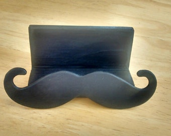 Moustache Business Card Holder, Busines Card Holder, Mustache Business Card Holder, Moustache, Boss Gift, Office Gift, Wood Mustache Gift