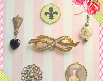 Downton Abbey Jewelry Findings Connectors, Charms, Lady Mary Jewelry