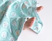 Blanket for Baby Boy Les Amis Sweet Owlies Blanket Baby Boy Gift with Minky for Baby Boy Toddler Boy