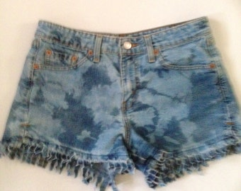 Altered Couture Tie Dyed Levi Shorts
