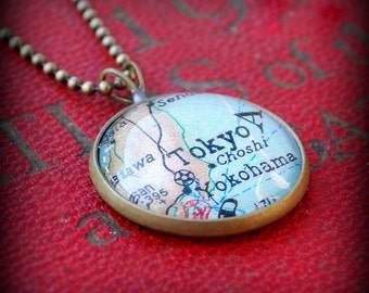 Tokyo Map Necklace