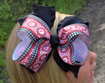 Alabama Roll Tide Hair Bow