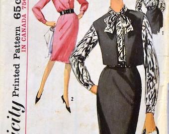Vintage 1963 Sewing Pattern Simplicity 5311 Misses' Skirt Blouse Vest  Bust  34 Complete