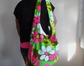 Sale Sweet Annabelle hobo, crossbody, messenger, tote, canvas shoulder bag, diaper bag, flower power hippie hobo