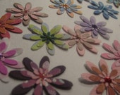 Handmade Cardstock Flowers-set of 20
