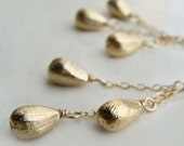 Edisto Earrings with Brushed Gold Drops Fall Fashion