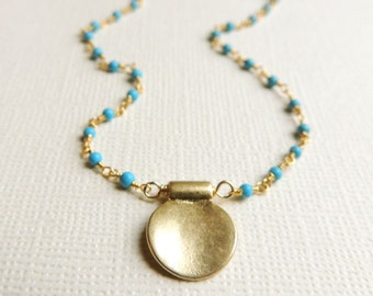 Ariana Necklace with Turquoise
