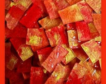 Mosaic Tiles SUNSET Orange Yellow Red  hp MosaicTile