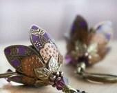 Dangle Earrings, Flower Earrings, Purple Earrings, Gift For Her, Gift Ideas, Sympathy Gift, Graduation Gift