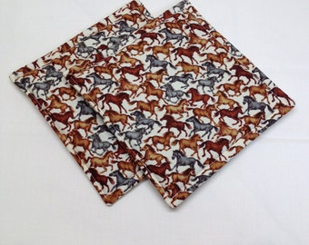 Horse Print Potholders Set of 2