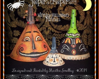 Apple Tree Cottage Original Design E Pattern  - Jeepers Creepers Halloween Funnels