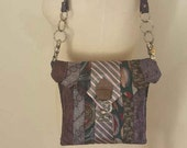 Hand Crafted Belt Pouch/Bag, with Upcycled Men's Ties, BurningMan Style, Xanadu Designs