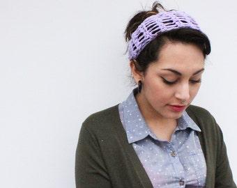 headband chunky summer turban vegan lace crochet radiant orchid