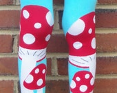 Lady Bug and Toadstool Leg Warmers - Arm Warmers or Leggings for Baby, Toddler, Kid - Birthday or Shower Gift for Boy or Girl