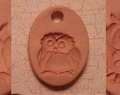 Custom Small Bisque Pottery Pendant or Necklace - Aromatherapy Essential Oil Diffuser - Choose Shape and Design - OWLS Series