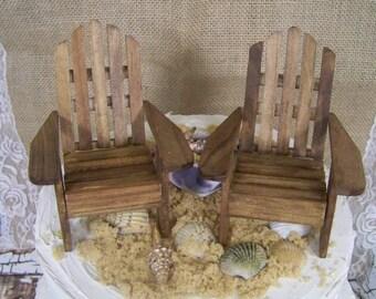 Adirondack Cake Topper, DIY Wedding, Beach Theme, Beach Topper, Adirondack Chair Cake Topper, His and Hers Cake Topper