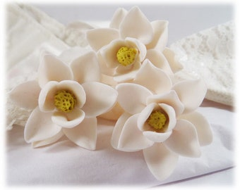 Magnolia Hair Pins - Magnolia Hair Accessories, Magnolia Wedding Hair Pins