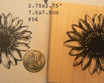 P56 Sunflower  rubber stamp