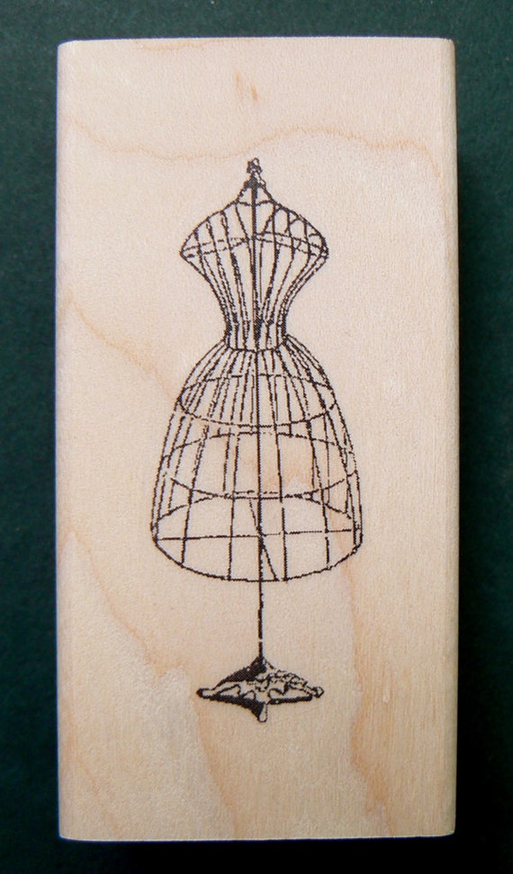 Dress form rubber stamp 2x1 p22 for Wedding dress rubber stamp