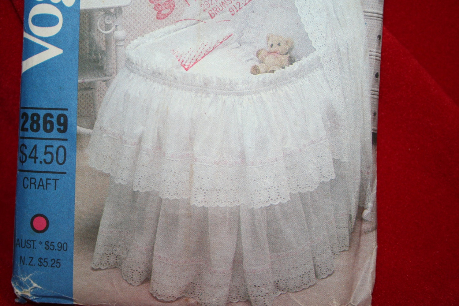 Uncut Vogue 2869 Baby Bassinet Accessories Sewing Pattern