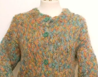 50% OFF 90s ladies thick Wool handmade cardigan