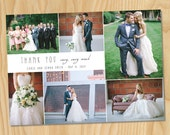 Thank You Collage - Custom Printable Photo Wedding Thank You Card