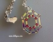 Sale!!! RADIANT GEM CRYSTALS laser cut necklace