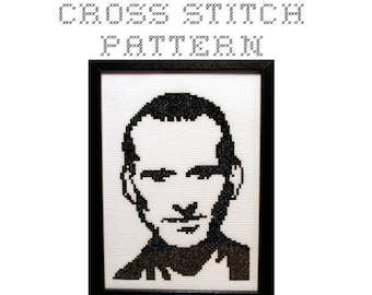 DIY The Ninth Doctor - Dr Who - .pdf Original Cross Stitch Pattern - Instant Download