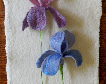 Iris - Felted Flower - create your own bouquet