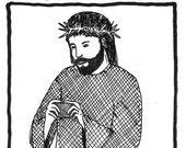 Jesus Takes a Selfie PRINT