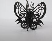 Day of the Dead, Dia de los Muertos Butterfly Skull party favor/ornament