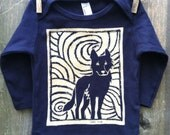 Midnight Wolf Infant Long Sleeve Tee