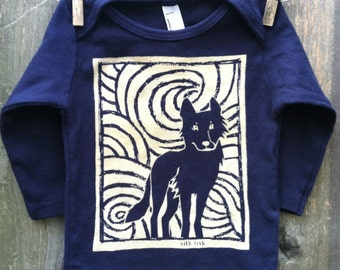 Midnight Wolf Infant Long Sleeve Tee
