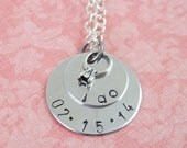 """Petite """"I Do"""" Hand Stamped Necklace"""