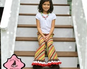 How to make single double or triple ruffle capris and pants PDF sewing pattern preemie size to 10 years