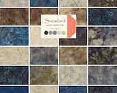 "Moda SNOWBIRD BATIKS Precut 5"" Charm Pack Fabric Quilting Cotton Squares 42180PP Laundry Basket Quilts"